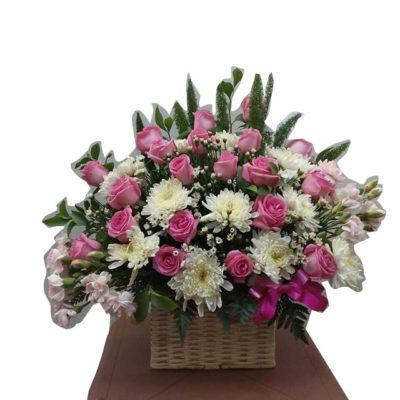 Canasta Rosas y Claveles