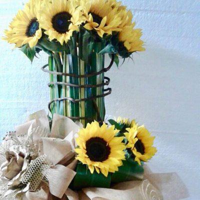 Arreglo de Flores con Girasoles