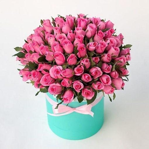 bote de rosas rosas